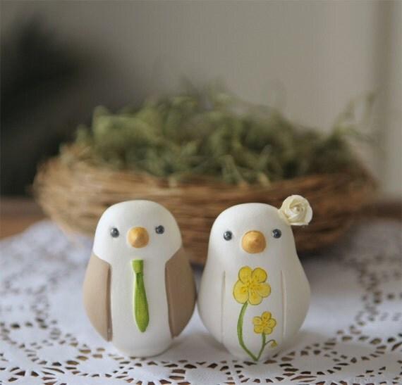Wedding Cake Topper Love Birds Small By RedLightStudio On Etsy