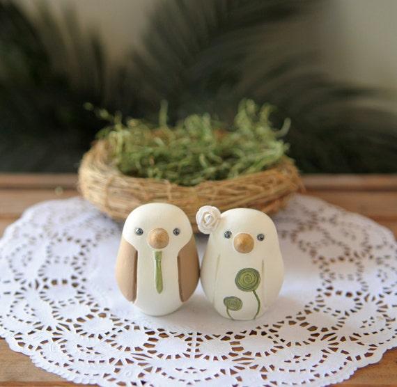 Wedding Cake Topper Love Birds Small