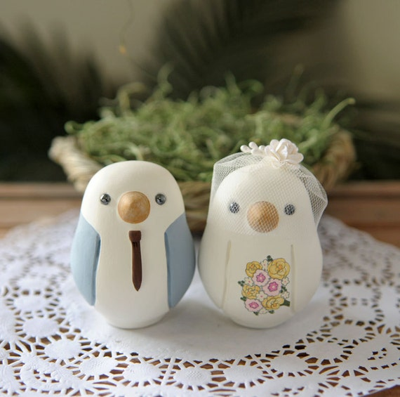 wedding cake decorations birds custom wedding cake topper medium painted birds 22399
