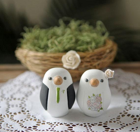 Love Bird Wedding Cake Topper - Small