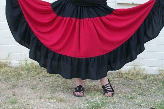 Womens belly dance hippy skirt