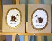 Monsieur et Madame Snalio (two piece set) - Original 8x10 Acrylic Paintings