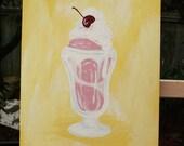 SALE - Sundae Afternoon - Original 9x12 Acrylic Painting