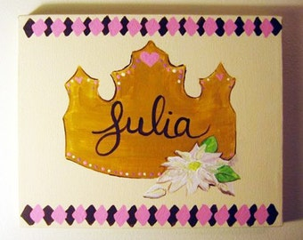 Custom Name Painting - Personalized Acrylic Painted Name Sign