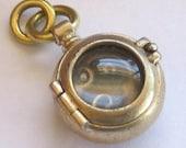 BRONZE PORTHOLE steampunk embryo locket