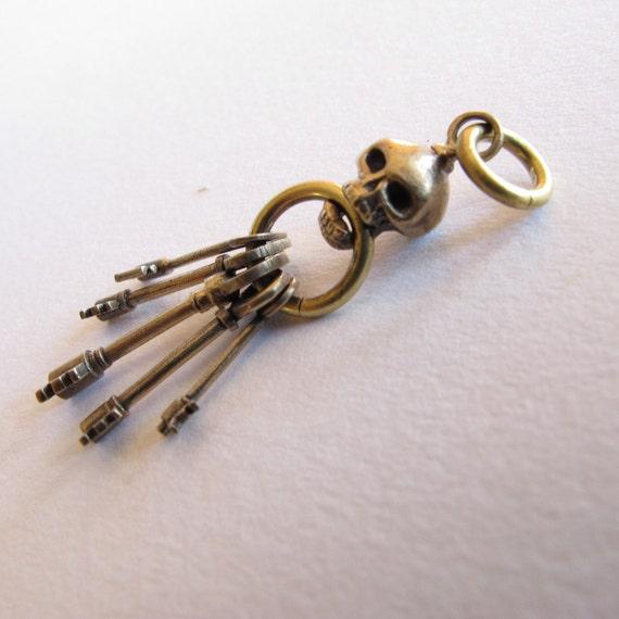 Skull key ring bronze steampunk keys