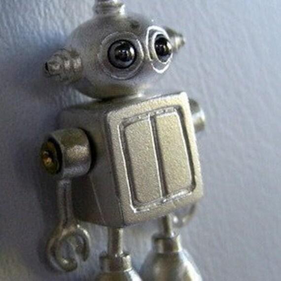 BUBBLE HEAD robot in STERLING SILVER