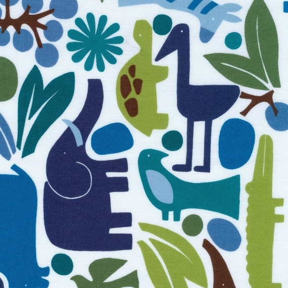 2 yards (1.8m) 2D Zoo Pool from Alexander Henry Fabrics