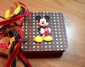 Mickey Mouse Mini Chipboard Album Scrapbooking Photo Premade Pages