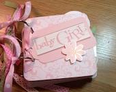 Baby Girl Mini Album Chipboard ScrapbookSALE