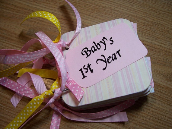Baby Girl First Year Mini Album Chipboard Scrapbook
