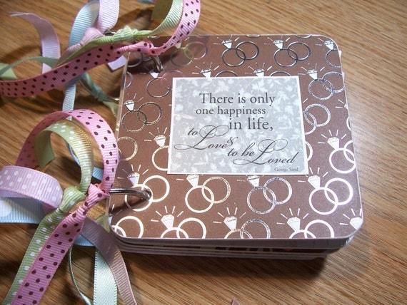 Wedding Mini Album Chipboard Scrapbook