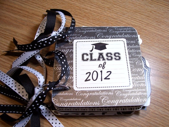 Graduation Mini Album Chipboard Scrapbook