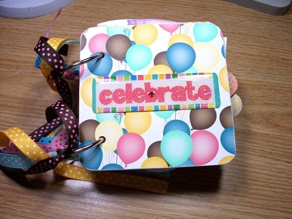 Birthday Mini Album Chipboard Scrapbook