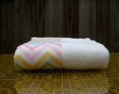 SALE - zig - baby burp cloth