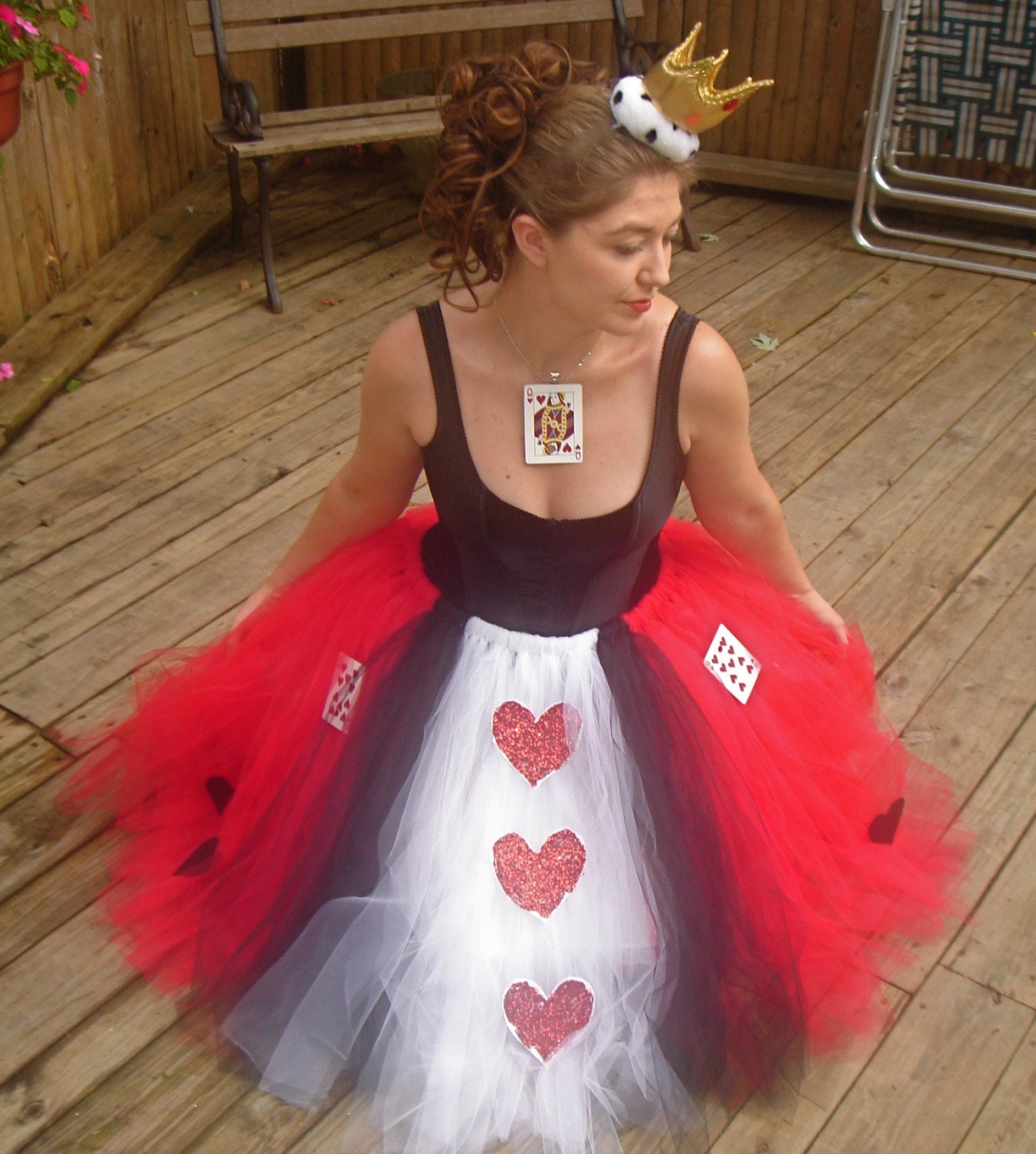 queen of hearts adult boutique tutu skirt costume. Black Bedroom Furniture Sets. Home Design Ideas