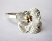 Florcita ring, flower, sterling, plata, cute, soft, nice, delicated, gold