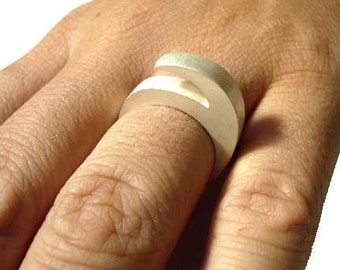 Six ring sterling silver, geometric, numeral, modern, contemporary jewelry
