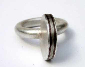 Marroc ring, sterling silver, chocolate, red, brown, woman, big, contemporary modern jewelry