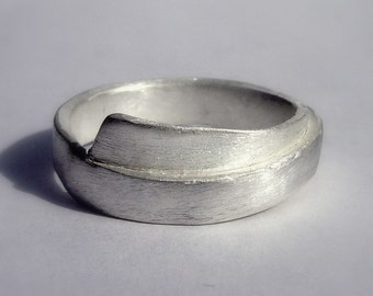 The loop ring, sterling silver, woman, men, fine, shiny, simple, men