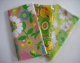 Vintage Floral Fabric Fat Quarter Package
