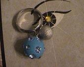 blue ball charm