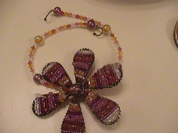 Huge beaded flower chocker