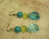 Blue-Green Envy Earrings