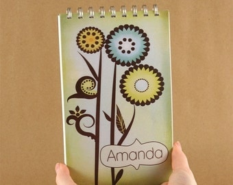 Personalized Journal Notebook - Colorful Whimsy