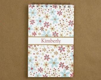 Personalized Journal Notebook - Confetti Flower Journal