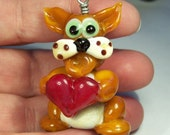 Lampwork Cat with Heart
