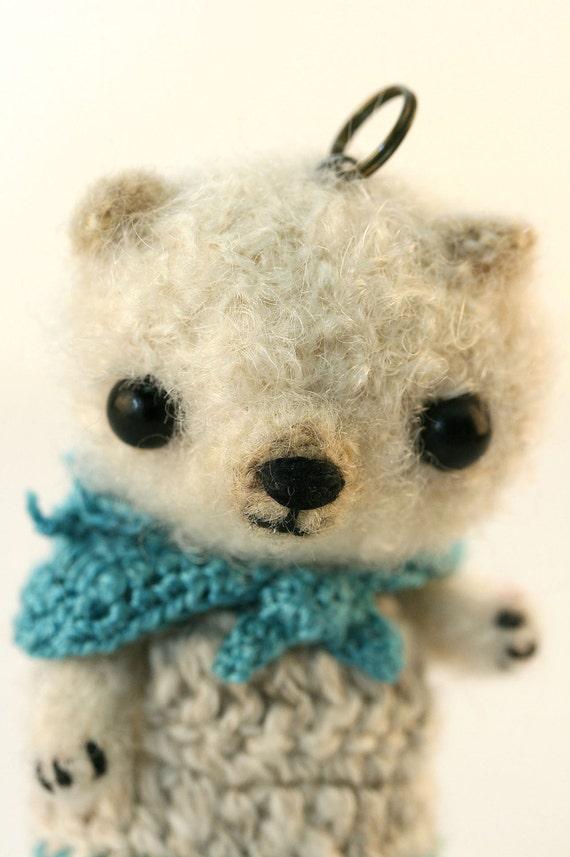 Artist Bear- Crocheted- Miniature Bear