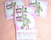 Pink Girl Birthday Gift Card Holders set of 4