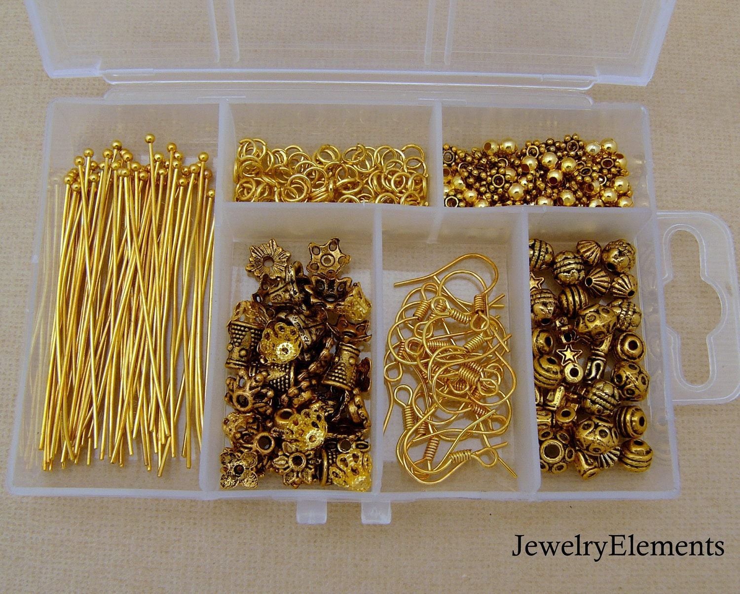 Jewelry Making Kit Antique Gold Findings