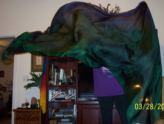 Sahariah's Silk Belly Dance Veil Rectangle Tribal Killer Silk 3.5 Yards