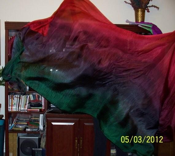 Sahariah's Silk Belly Dance Veil Rectangle Tribal Killer Silk