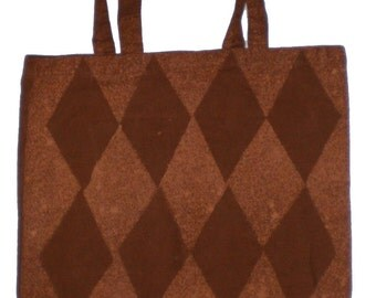 Diamond Bleached Canvas Tote Bag