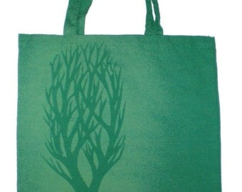 Tree Bleached Canvas Tote Bag