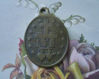 Vintage Mary Religious Medallion