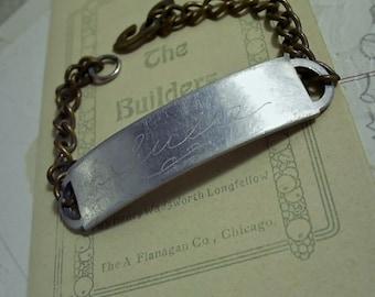 "Vintage I. D. Bracelet with ""Susie"" Engraving"