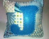 """Turquoise """"J"""" Tooth Fairy Pillow"""