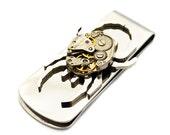 Steampunk Money Clip Clockwork Spider, The Guardian