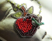 For Artists Exposed - You sneaky little worm... wire wrapped sterling silver and gemstones necklace