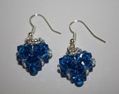 Capri blue heart - earrings