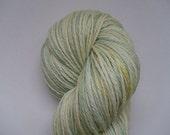 Lemon and Lime Twist - 'Lustre' Superwash Merino Sock Yarn - UK Seller - ON SALE