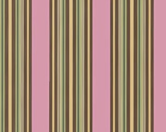 Amy Butler Charm fabric | Pink Awning stripe | Cotton Quilting fabric