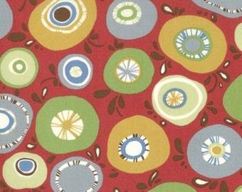 Panache Exclamation Pomegranate fabric | Cotton fabric | Sanae