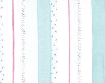 Ballerina Fairies Stripe Aqua fabric   Cotton Quilting fabric   Ingrid Slyder