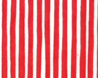 Ready Set Snow Red White Stripe fabirc 22154 21 | Cotton Quilt Fabric | Me & My Sister Last piece