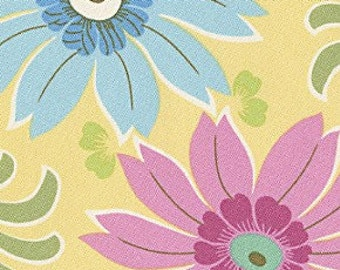 Cotton Quilting Fabric | Amy Butler fabric | Ginger Bliss Dahlia Lemon 1/2 yard